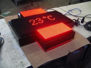 Светодиодное табло типа крест (инфа, температура, время!)